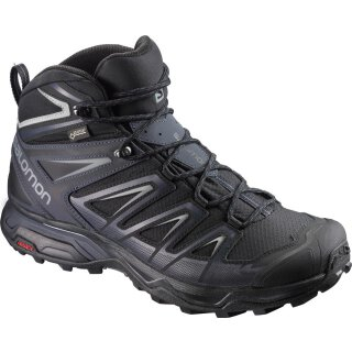 Salomon Mens X Ultra 3 Mid Gore-Tex Hiking Shoes - Black/India Ink/Monument