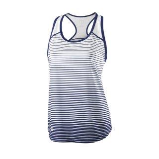 Wilson Team Tank Striped - Damen - Blau Weiß