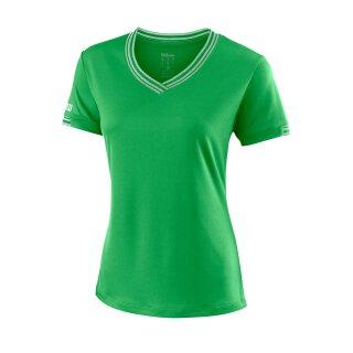 Wilson Team V-Neck Shirt - Damen - Grün