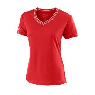 Wilson Team V-Neck Shirt - Damen - Rot