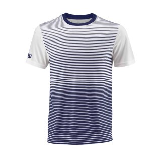 WILSON TEAM STRIPED CREW M Blau/Weiß