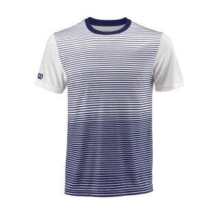 Wilson Team Crew Shirt Striped - Herren - Blau Weiß