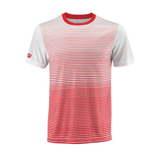 WILSON TEAM STRIPED CREW M Rot/Weiß