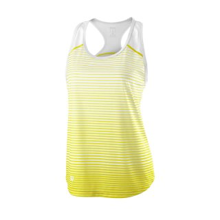 WILSON TEAM STRIPED TANK W Safety Yellow/White