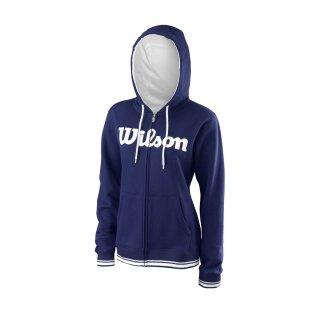 Wilson Team Script Full Zip Hoody Pullover - Damen - Blau Weiß