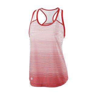 Wilson Team Tank Striped - Damen - Rot Weiß