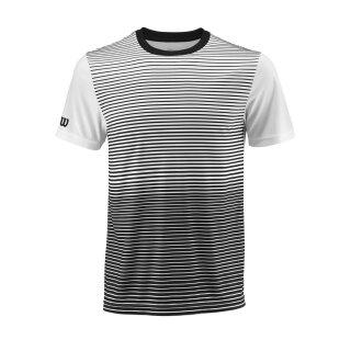 Wilson Team Crew Shirt Striped - Herren - Schwarz Weiß