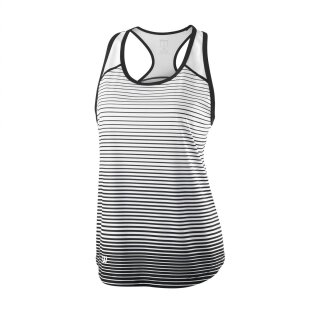 Wilson Team Tank Striped - Damen - Schwarz Weiß