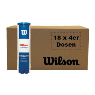 WILSON ULTRA CLUB ALL COURT TBALL BOX OF BALLS (18x4 ball can)