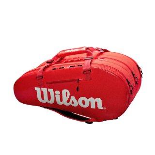 Wilson Super Tour 3 Comp Tennistassche - 15 Rackets - Rot